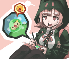 Nanami Play with a Pokemon