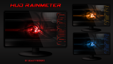HUD Rainmeter by BeautyDesignz