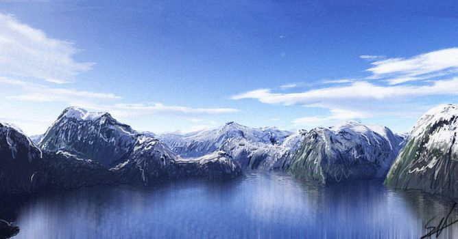 Speedpainting-Mountains by speed-painting
