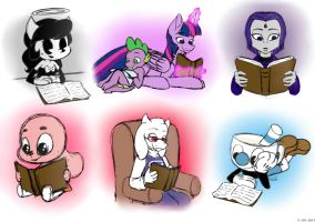 Book Worms by GGChristian