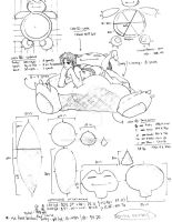 Snorlax beanbag design sketch by EquilibriumArts