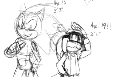 TGC: Sonic and Brooke Height Comparisson by DorkatheHedgehog