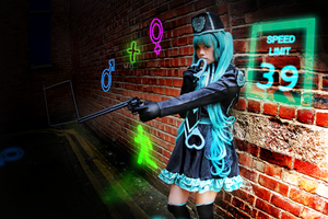 Love Philosophia Hatsune Miku Cosplay: Heartcuffs~ by SpicaRy