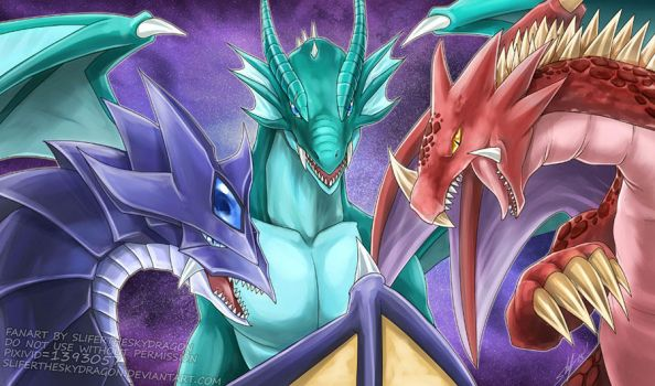 Legendary Dragons by slifertheskydragon