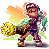 Inkling with Splatling 2 by TooterDoodles