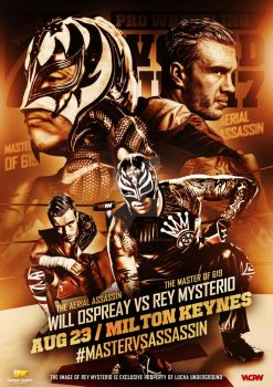 WCPW -Rey Mysterio vs Will Ospreay Official poster by Ahmed-Fahmy