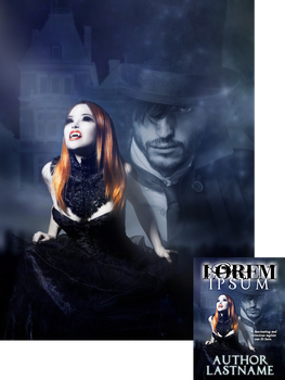 Ginger Vampire Premade Book Cover by Viergacht