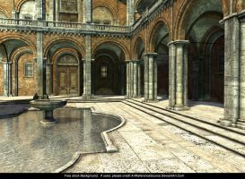 Free Stock Background - Italian Courtyard by ArtReferenceSource