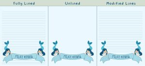 Mermaid Banner Printable Stationery by kitchycat