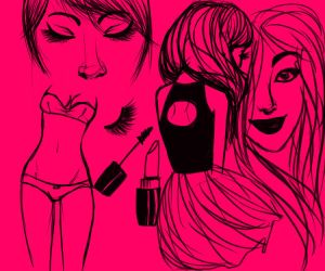 pink doodles by x--masquerade