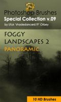 Foggy Landscapes Photoshop Brushes by shadedancer619