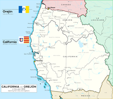 [Fictional] Republics of California and Orejon by Robin-Maps