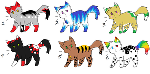 Cat Adoptables 3 *2 Left!!!* by LuxaAdoptables