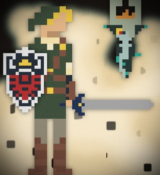 Link and Midna by DavidtheDestroyer