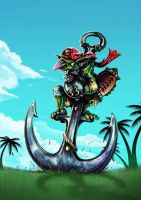 Goblin Pogo for Hungry Troll by LANZAestudio