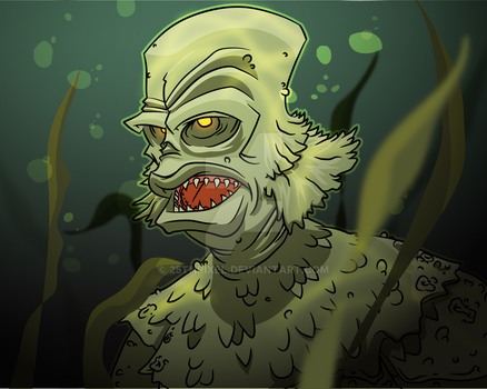 Creature from the black lagoon Illustration by 25thPixel