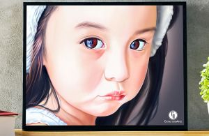 Baby Girl Realistic Portrait by aoyumeart