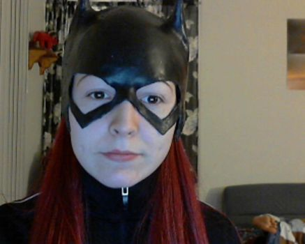 Batgirl Cowl Complete Front by ComfortablyEccentric