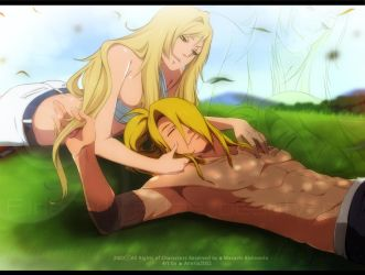 Deidara and Shiroi by annria2002