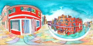 Panorama 360 of Burano by takmaj