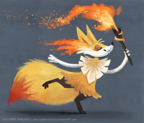 DAY 349. Braixen by Cryptid-Creations