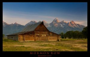 Mormon Row Sunrise by Raymaker