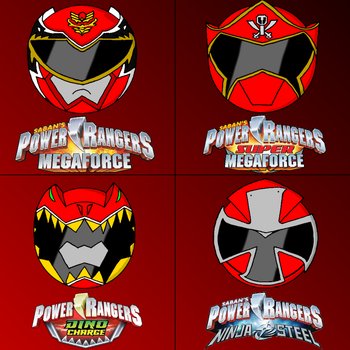 Power rangers helmets in my style part 5 (red) by Badrater