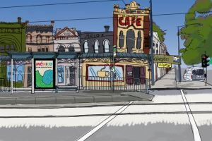 Melbourne Tram stop by ayanami89