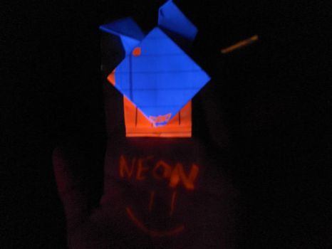Neon Playboy origami by EVIL-MINDS-CREATIONS