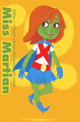 Miss Martian. by Flaii-chan