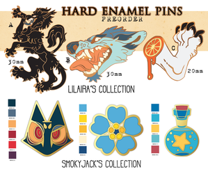 Enamel Pin Preorders OPEN QUOTAS! by LiLaiRa