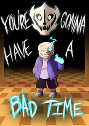 Undertale Spoilers: Bad Time by Miss-Sheepy