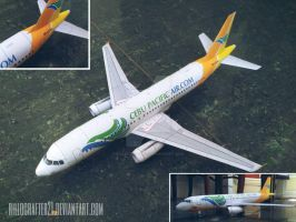 A320 Cebu Pacific Papercraft by rillocrafter21