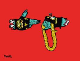 Run the jewels by Makinita