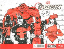 Thunderbolts Sketch Cover by natelyon