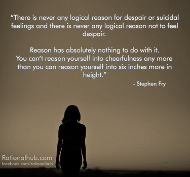 Stephen fry on depression and suicidal feelings.. by rationalhub