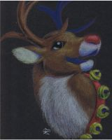 Daily Drawing Day 29 Rudolph by MidnightHuntingWolf