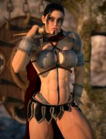 Fia - a female barbarian by Hubby72