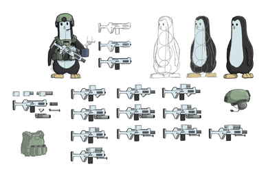 Pengu Style and Modular Rifle by Sches