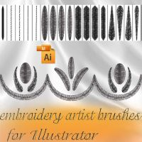 embroidery artist brushes by roula33