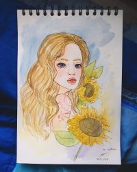 The Sunflower  by ZINNYFILL