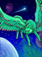 Wolf in space by VelociyDrawing17