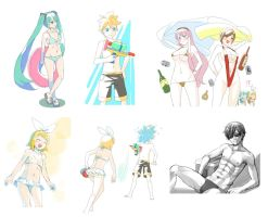 VOCALOIDs summer collection 2017 by grimay