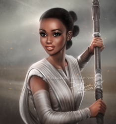 Star Wars: Rey Nyong'o by daekazu