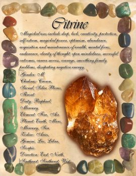 Book of Shadows: Gemstone Grimoire - Citrine by CoNiGMa