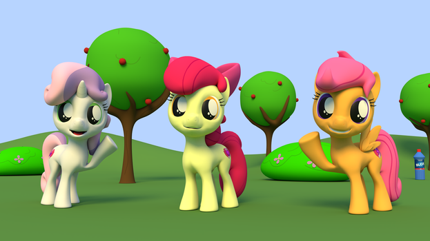 Cutie Mark Crusaders in blender by EDplus