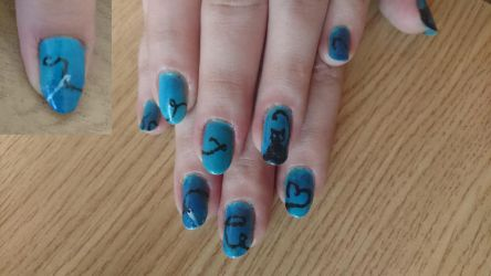 Coraline inspired nail desing... by Anonymous---Lucifer