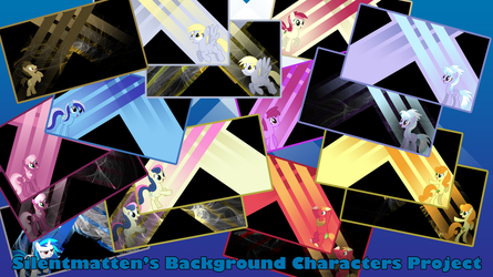 Background Characters Wallpaper Display by Silentmatten
