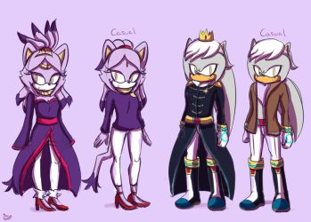 Blaze and Silver future reference by Cometshina