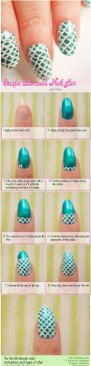 How To Do Mermaid Nail Art - Tutorial by VioletLeBeaux